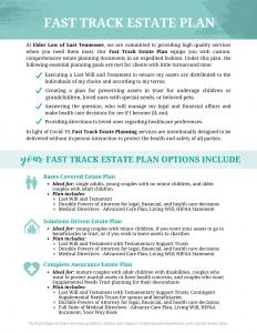 Elder Law Fast Track Estate Plan for download